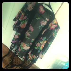A flower blouse